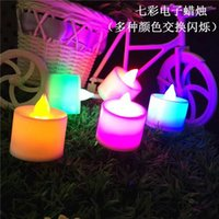 Wholesale LED Tea Candles Night Light Battery Operated Flicker Flameless LED Tealight Wedding Birthday Party Christmas Decoration Colors to Choose
