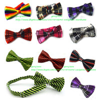 bow tie - Mens Bowtie Bow Ties Pre tied Adjustable Stripe Plaid Neck Bow Tie Fashion Accessories MOQ