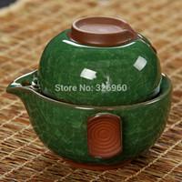 Wholesale Upscale gift Gaiwan Multiple Colors Ice Crack Glaze Quik Cup Ceramic Tea Sets Crackle Glaze Kung Fu Tea Porcelain Cup Quik Cup