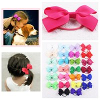 baby flats - 2016 New selling baby girl inch flat knot hairbows solid elastic headwear E010B Y