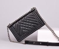 Wholesale CC Brand Classical LE BOY Genuine Leather CM Women Messenger Bag Fashion Lambskin Leather Shoulder Bag