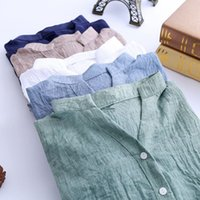 Wholesale Tops Women Blouses Casual Loose Plus Size Cotton Linen Blouse Three Quarter Sleeve Shirts Women Tops blusas Women Shirts