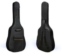 backpack shoulder pads - 2015 HOT SALE D Water resistant Gig Guitar Bag Backpack Shoulder Straps Pockets mm Cotton Padded Black for Inchs Guitar