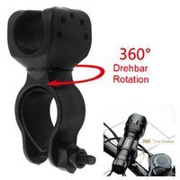 Wholesale Bicycle Bike Flashlight LED Torch Mount Holder degree Rotation Cycling Clip Clamp