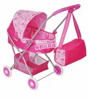 baby doll furniture - Hot Sale Christmas gift dollhouse miniature furniture children toy cart girls play toy doll cart iron folding baby strollers Bag