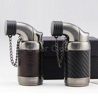 beautiful gadgets - Brand Beautiful Gadgets Leather Trunk Vigorous Windproof Cool Torch Jet Flame Cigar Gas Lighter