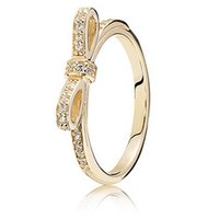solid gold jewelry - 14K Solid Gold Parking Bow Figer Ring Sterling Silver Ring Fashion Ring DIY Jewelry AC3446