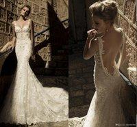 galia lahav wedding dresses - Amazing Sexy Lace Backless galia lahav Wedding Dresses Mermaid Style Bridal Wedding Gowns Tulle With Spaghetti Straps Women Sale