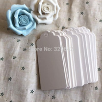 apparel gift tags - wave scallop shape white color blank design clothing apparel bags price paper tags gift packaging hang tags