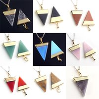 Wholesale 18X Mix Order Gold Plated Head Hot Selling European Fashion Women Jewelry Triangle Pyramid Mysterious Reiki Pendulum Pendant Charms