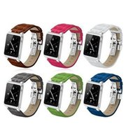 Wholesale Top Quality Real Leather Aluminum Strap For iPod Nano th Wrist Strap Watch Band Case