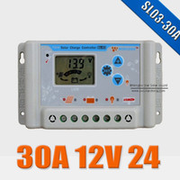 Wholesale 30A V V wincong sl03 a solar Charge Controllers USB LCD Li Li ion lithium LiFePO4 batteries Solar Charge Controller