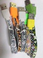 Micro USB Moda cable plano del cargador de fideos cable de carga para Samsung Galaxy S3 S4 S5 Xiaomi Huawei HTC 4G 5G