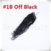 Wholesale European Micro links Hair Extensions S AAAAA Grade Curly Natural Micro Ring Loop Hair g s