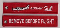 Precio de Armadura usada-Quitar antes del vuelo Airvan Fácil uso llavero llavero de equipaje tirón de la cremallera tejido llavero bordado 13 x 2.8cm lote 100pcs