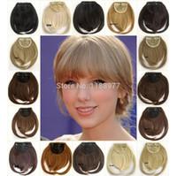 Wholesale front bang hair bang extension clip in hair bang synthetic hair bang hair fringe colors