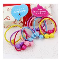 apple alloy hair - Hair Jewelry Candy colored hair ring rubber band small apple Children hair rope Hair Rubber Bands Random color