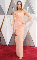 Wholesale Louise Roe Oscar Evening Dress Peach Sweet Strapless th Academy Awards Celebrity Dresses Floor Length Elegant Prom Gown