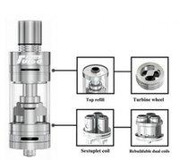 Authentique Horizon Arctique Turbo Sous-Ohm réservoir 3,5 ml atomiseur avec Intuitive Sextuple serpentins Turbine Système de refroidissement RBA Head