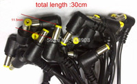 Wholesale 50 mm x mm DC Power Plug Male Charger Right Angle Cables Connector length cm