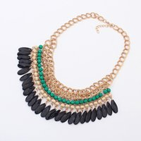 Wholesale fashion lady necklace New Arrival Luxury Unique Statement Choker Necklace Bule Crystal Necklaces Pendants For Women
