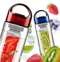 wholesale plastic fruit - 240pcs Tritan sports fruit water bottle plastic cup outside sport lemon emperorship fruit cup Y125