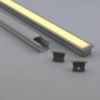 aluminum floor tiles - Waterproof Aluminum Profile m For Floor Tiles Ground Lighting Channel based on v Leds Neon Led strip Light ALP033