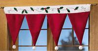20шт Современный 90X42CM окна двери Пелерина Группа Рождество занавес шторы Декоративные Главная оптом