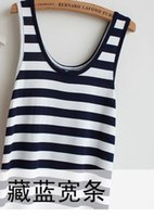 Cheap Foreign trade clothing apparel wholesale women's knee dress modal European style solid color striped camisole dress