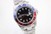 al por mayor hombres reloj rojo azul-De Lujo De Lujo Azul Y Rojo Dezel Cinturón Negro Hombre De Puntero De Reloj De Hombre Relojes Deportivos