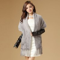 accessories mink coat - real knitted mink fur shawl stole wrap cape poncho coat garment various colors