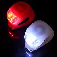 Wholesale Mini Brillant Waterproof SILICON Bike Bicycle Cycling Beetle Warning Light LED Front Light Rear Tail Lamp