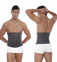 Wholesale Rubber Latex Waist Trainer Vest for Men Black Waist Cincher Firm Tummy Slimming Male Waist Cincher Corset Men Waist Belly Shaper fashion hot