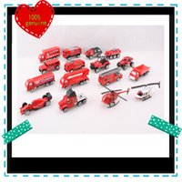 Cheap 16 Styles a Box Alloy Plastic Children's Toy Car Fire Truck Toys Gifts for Kids Children