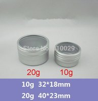 alumium window - 100pcs g Alumium jar Fit Top with View Window Small ml Metal Container Tin Aluminium Lip Balm Container