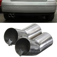 Wholesale New Stainless Steel Trail Rear Exhaust Pipe Muffler For VW Bora Golf MK4 Jetta order lt no track