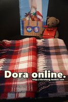 Wholesale Day One outlet Plaid Scarf official network synchronization in the sale of Japanese style cute Red Scarf