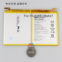 Wholesale 100 Original High Capacity Cell Phone Battery Batery mAh HB417094EBC For Huawei Ascend Mate Mate7 MT7 TL00 TL10 UL00 CL00