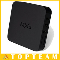 Wholesale 2015 Original MXQ TV BOX Online Update Amlogic S805 Quad Core Android Airplay TV Channels Programs Media Player Free DHL