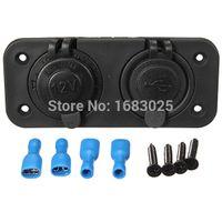 Wholesale Brand New Dual Car Cigarette Lighter Socket Splitter V Charger USB Power Adapter