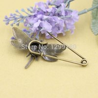 antique spot light - in spot lighting wedding Alloy Antique Bronze Vintage Animal Brooch Safety Pins For Garment Accessories Scarf Clip pins Length