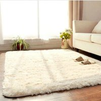 Wholesale 99 cm Fashion Living Dining Bedroom Car Flokati Shaggy Ivory Rug Anti skid Carpet Seatmat