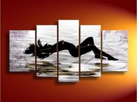 Oil Painting nude women oil painting - Nude Lady Sexy Naked Woman Oil Painting Artwork High Quality handmade Modern Home Hotel Bar wall art decor decoration Unframed Free Ship New