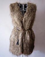 Wholesale hot selling new Long plush fur fox fur vest fur vest and long WPC0083