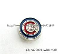 baseball magnet - 10pcs Chicago Baseball Cubs Sport Team Floating Charms FC944 Fit Charms Locket Memory Living Magnet Glass Floating Locket