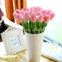 silk tulips - single small silk tulip artificial simulation flowers for house adornment decoration by arranging art TH026