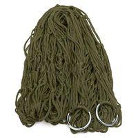 Cheap 2015 Deep Green Nylon Hammock Hanging Mesh Sleeping Bed Swing Outdoor Nice Gift