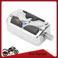 Wholesale Motorcycle Foot Pegs Skull Eagle Motorbike Footrest Shift Pegs Male Mount for Harley Davidson Chrome Black order lt no track
