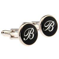Wholesale 26 letters of the English B Men s Women Cufflinks Cufflinks MTS