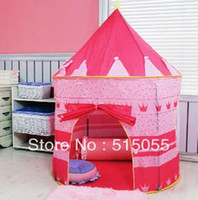 Tents Animes & Cartoons Cloth Large Pink Princess Tent Cute Child Game House Beautiful Play Tent Pretty Indoor And Outdoor Play Tent ,Girl Christmas Gift